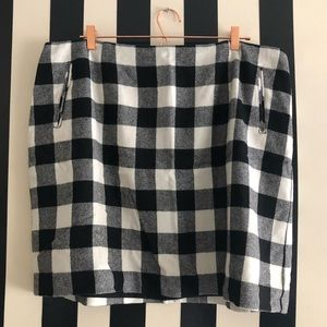 Talbots Skirts - Black & White Checkered Skirt with Pockets